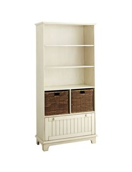 holtom-bookcase---antique-white by pier1-imports