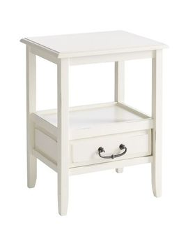 antique-white-end-table-with-pull-handles by anywhere-collection
