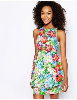 river-island-double-layer-3d-floral-dress by river-island