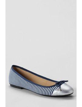 womens-brooklyn-bow-captoe-ballet-shoes by lands-end