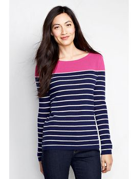 womens-year-round-cashmere-stripe-balletneck-sweater by lands-end