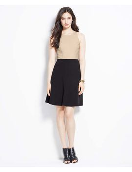 colorblock-crepe-dress by ann-taylor