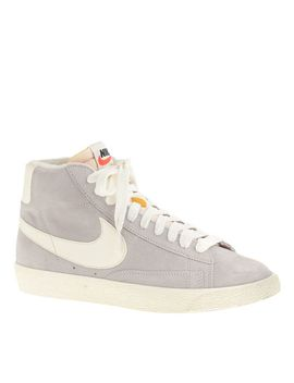 nike®-blazer-high-suede-vintage-sneakers by nike