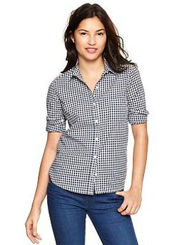 fitted-boyfriend-gingham-shirt by gap