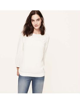 embroidered-raglan-sleeve-blouse by loft