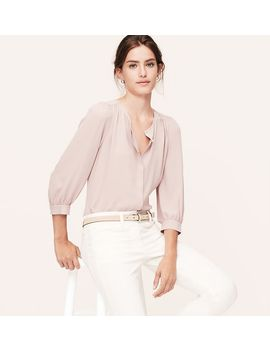 shirred-blouse by loft
