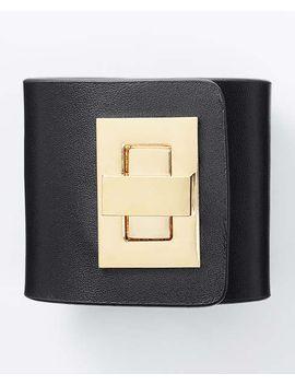 modern-classic-leather-turnlock-cuff by ann-taylor