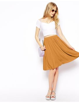 asos-midi-skater-skirt by asos-collection