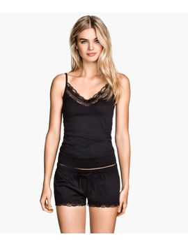 pajamas-with-top-and-shorts by h&m