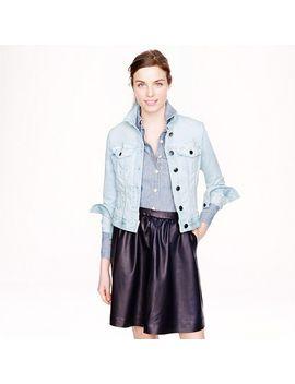 stretch-denim-jacket-in-light-blue by jcrew