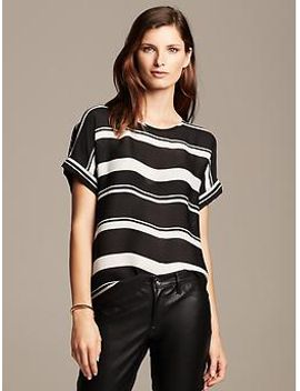 multi-stripe-draped-top by banana-repbulic