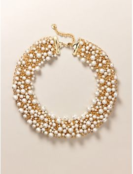 pearl-&-woven-chainmail-necklace by new-
