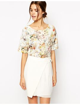 warehouse-pretty-floral-textured-tee by warehouse