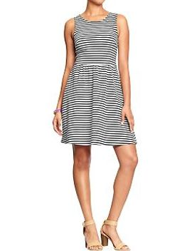 womens-striped-sleeveless-jersey-dresses by old-navy