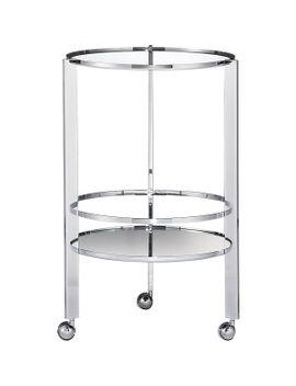 ernest-chrome-bar-cart by crate&barrel
