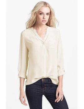 collarless-silk-blouse by trouvÉ