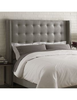 barrington-upholstered-wingback-headboard by house-of-hampton
