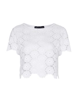 petite-exclusive-lace-tee by topshop