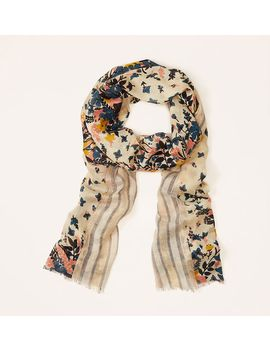 striped-floral-scarf by loft
