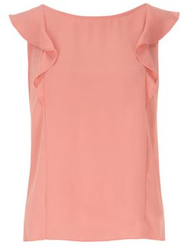 coral-frilled-bow-back-top by dorothy-perkins
