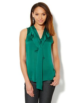 ruffle-front-bow-blouse by new-york-&-company