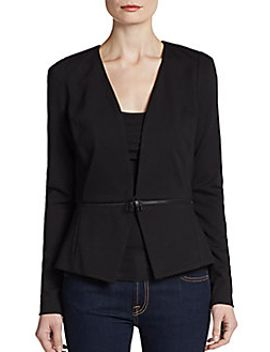 ponte-knit-collarless-blazer by rebecca-taylor