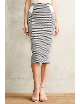 checked-knit-pencil-skirt by anthropologie