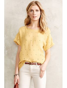 gilded-gauze-tee by anthropologie