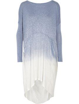 shredded-spray-dye-cotton-blend-jersey-dress by raquel-allegra