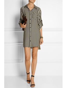 stretch-crepe-de-chine-shirt-dress by milly