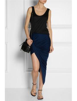 asymmetric-draped-jersey-skirt by helmut-lang