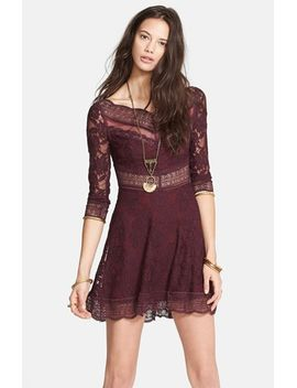 lacey-affairs-mixed-lace-skater-dress by free-people
