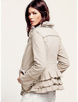 military-ruffle-twill-jacket by free-people
