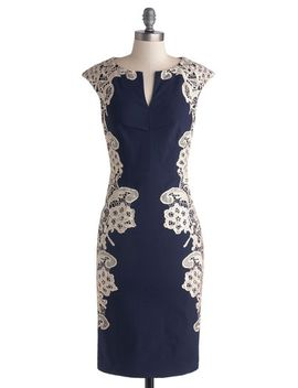 lakeside-libations-sheath-dress-in-navy by modcloth