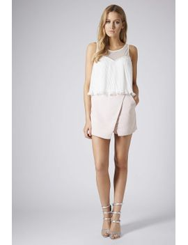 petite-pleat-mesh-vest by topshop