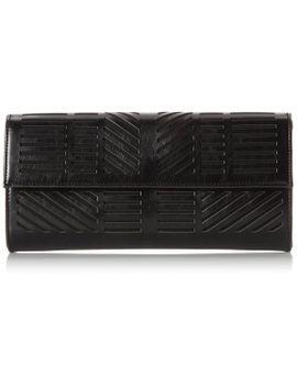 bcbg-moto-geometric-perforated-clutch-evening-bag,white,one-size by bcbgmaxazria