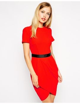asos-tulip-dress-in-crepe by asos-collection