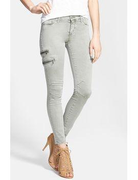 zip-detail-super-skinny-crop-jeans by hudson-jeans