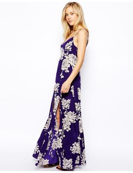 asos-maxi-dress-in-large-rose-print by asos-collection