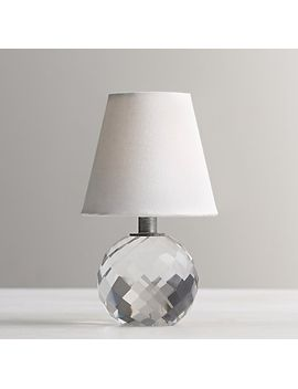 Mini Lourdes Crystal Ball Table Lamp With Shade by Rh Baby&Child