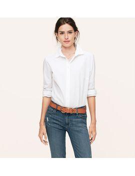 petite-tunic-softened-shirt by loft