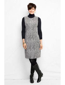 womens-jacquard-welt-pocket-sheath-dress by lands-end