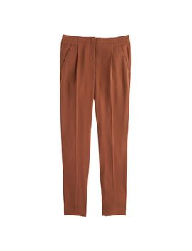 pleated-crepe-pant by jcrew