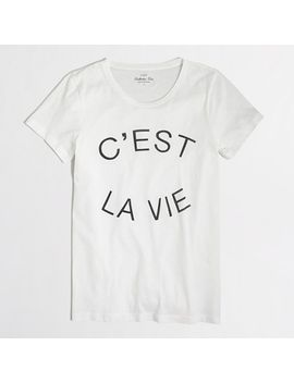 cest-la-vie-collector-t-shirt by jcrew