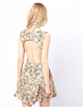 to-love-kuvaa-fruit-print-open-back-dress by save