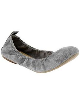 womens-faux-leather-scrunch-flats by old-navy