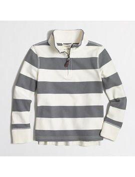 boys-striped-sueded-half-zip-popover-sweatshirt by jcrew