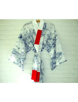 kimono-style-robe-blue-and-white-elegant-long-pink-red-flowers-turqoise-light-blue by wildstar80