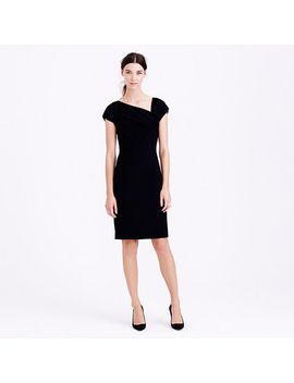 origami-dress-in-wool-crepe by jcrew