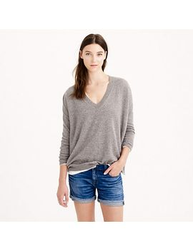 italian-cashmere-boyfriend-v-neck-sweater by jcrew